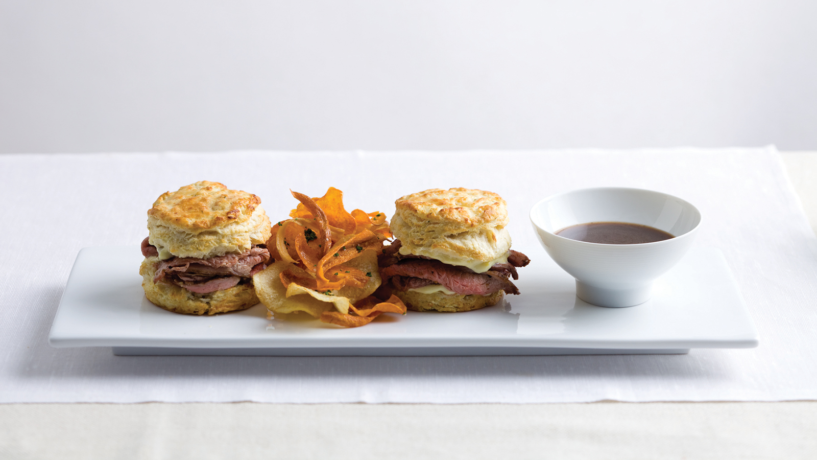 Colorado lamb dip sandwich with goat cheese rosemary for Lamb jus