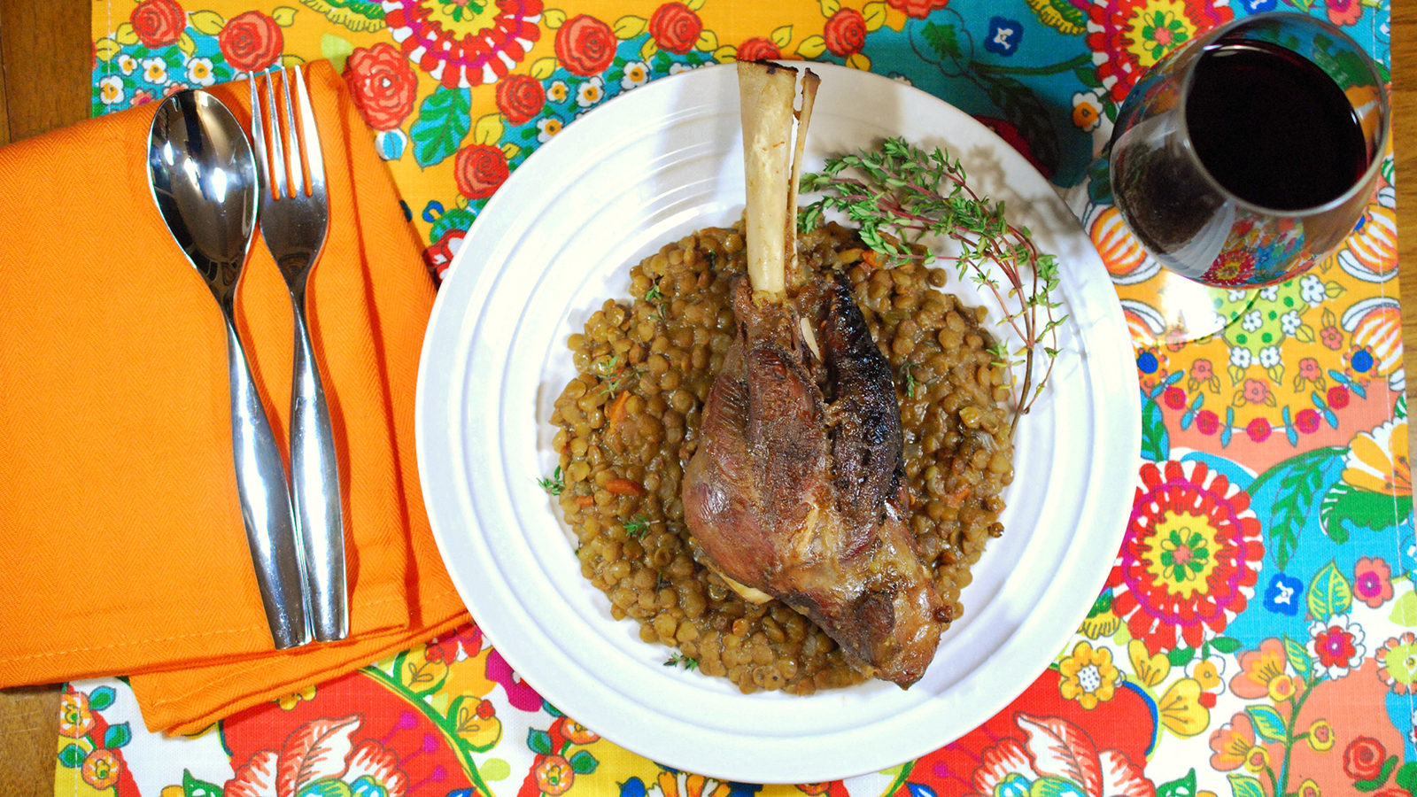 8 & $20: Braised Lamb Shanks and Lentil Stew Recipe ...