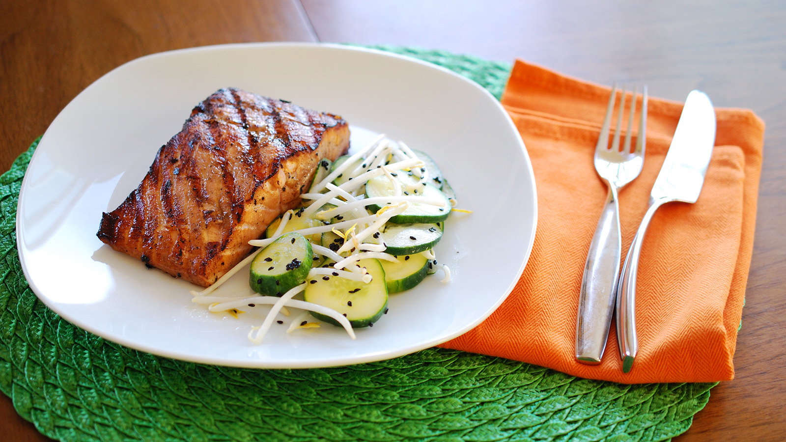 8 & $20 Recipe: Miso-Sesame Salmon with Cucumber Salad ...