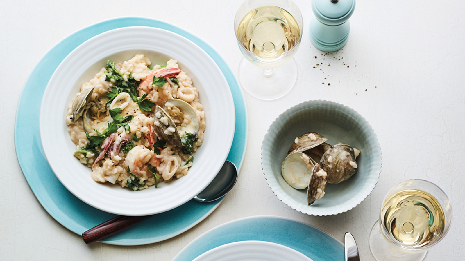how to make creamy seafood risotto