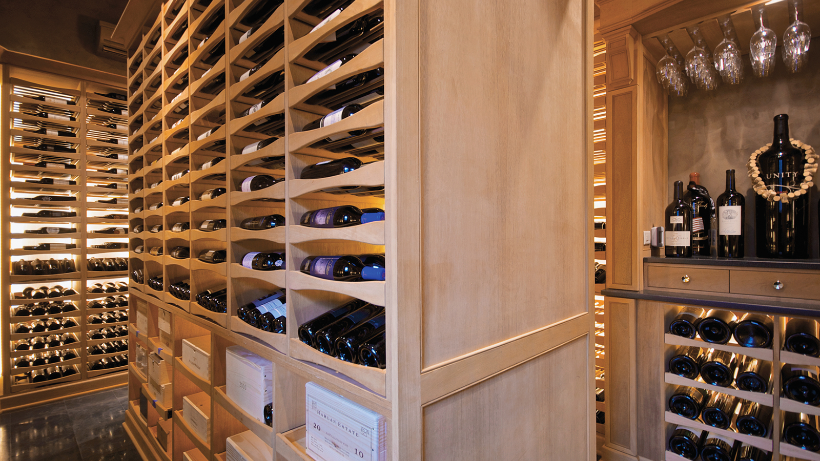 Wine cellar built in a pool house private cellars for Wine cellar in house