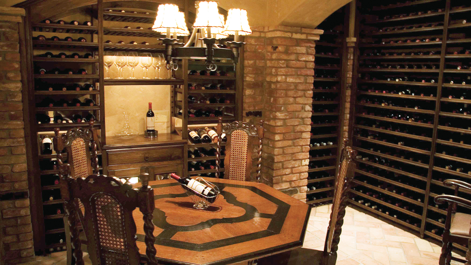 Expensive wine cellar built in basement private cellars for Building wine cellar