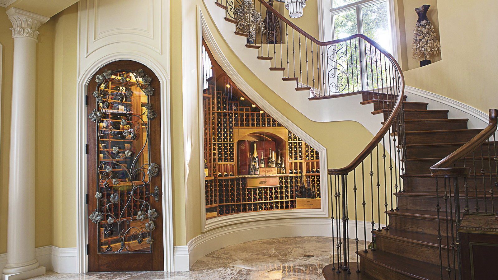 Wine Cellar Built Under The Stairs Private Cellars